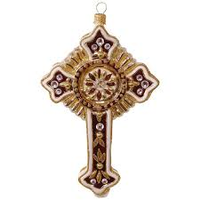 decorative cross blown glass ornament specialty ornaments hallmark