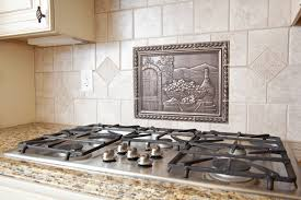 kitchen backsplash metal medallions kitchen mesmerizing kitchen backsplash medallion bronze medallion