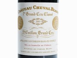 learn about chateau cheval blanc 2 bottles 2003 château cheval blanc émilion