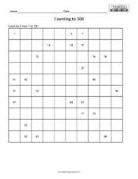 counting table to 100 easy teaching squared