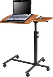 Adjustable Height Desks Ikea by Amazon Com Ameriwood Home Jacob Laptop Cart Cherry Black
