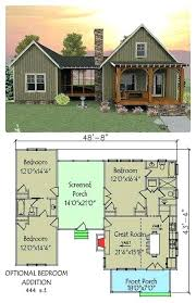 small 3 bedroom lake cabin with open and screened porch small lake house plans rewelo info