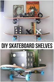 Shelves Kids Room by Diy Skateboard Shelves Skateboard Shelves And Room