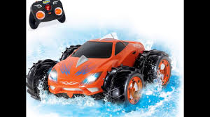 amphibious dodge truck kidirace amphibious remote control car orange 360 degree spin