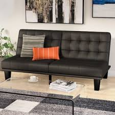 Artificial Leather Sofa Faux Leather Sofa Beds You Ll Wayfair