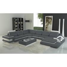 canapé panoramique canapé panoramique cuir gris et blanc design avec lumière ibiza