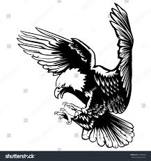 eagle emblem isolated on white vector stock vector 610404608