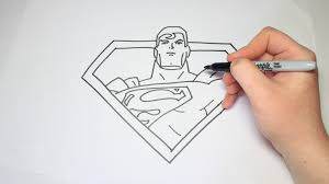 easy draw superman kids