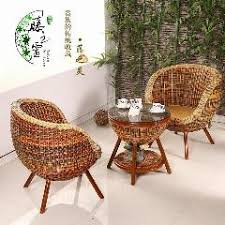 table three sets of outdoor rattan rattan chairs patio chair