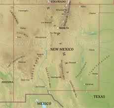 Map Of New Mexico And Colorado by Physical Map Of New Mexico