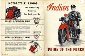 ad police mystery fanfare vintage police motorcycle ad