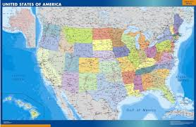United States Wall Map by Our Usa Wall Maps Wall Maps Mapmakers Offers Poster Laminated
