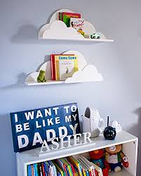 Amazoncom Cloud Shelf For Kids Room Baby Nursery Wall Decor - Shelf kids room