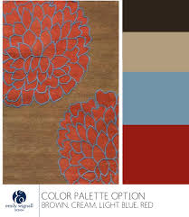 brown cream red light blue color palette option inspired by