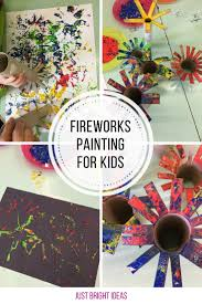 celebrate the 4th of july with a fireworks painting just bright