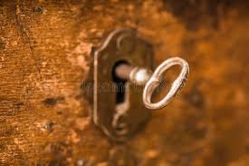 skeleton key locks for cabinets vintage key in lock of wooden chest stock photo image of vintage