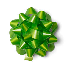 green gift bow green gift bow stock image image of greeting satin 34640873