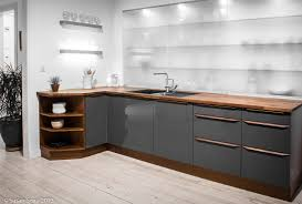 Images About Kitchen On Pinterest L Shaped Designs Shape And Green Grey Paired With A Classic Medium Brown Wood Finish White Walls