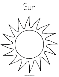 sun coloring page twisty noodle