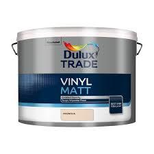 dulux trade trade magnolia matt emulsion paint 10l departments