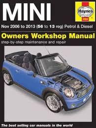 mini 2006 2013 haynes owners service u0026 repair manual pdf free