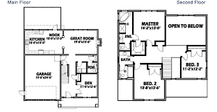 2 story floor plan modern 2 story house floor plans