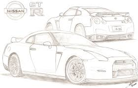 coloring pages drifting cars 2012 nissan gt r by tougedrifting85 on deviantart