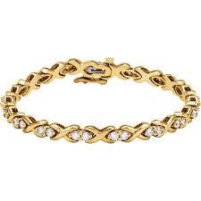 gold tennis bracelet diamonds images 14k yellow gold and diamond tennis bracelet custom jewelry jpg
