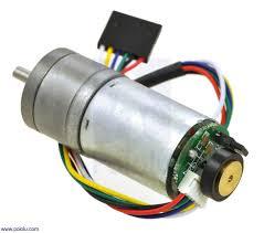 Jual Dc Gear Motor pololu 34 1 metal gearmotor 25dx52l mm lp 6v with 48 cpr encoder