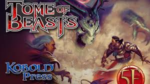 tome of beasts 400 new monsters for 5th edition by kobold press