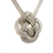 knot necklace images Silver wire flat chinese knot necklace the new york public jpg