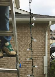 How To Hang Christmas Lights On House by Christmas Light Decor With Home Depot Canada