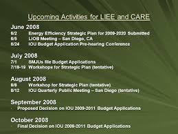 recent activities for liee and care november 2007 proposed