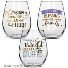 6 thanksgiving gobble till you wobble wine glasses for