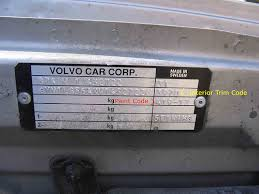 how to find paint codes and interior trim codes on your volvo