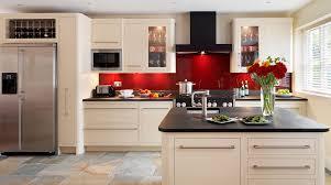 linear kitchen linear kitchen with red glass splashback from harvey jones idolza