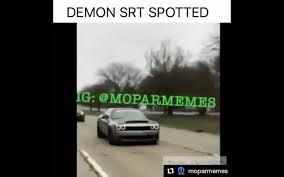 video dodge challenger srt demon spotted in detroit http