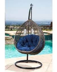 bargains on abbyson newport outdoor wicker patio swing chair brown