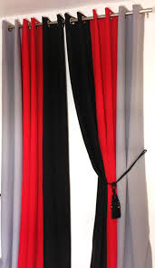 Black And Red Curtains For Bedroom Red Black And White Bedroom | eyelet curtains ring top fully lined pair black ready made plain