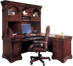 Cherry Wood Desk With Hutch New L Shaped Desk With Hutch Within Outlet Cherry Finish 30 H X 70