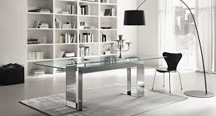 living room extraordinary contemporary glass desk home design