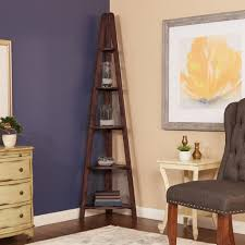 Bookcase With Ladder by Ospdesigns Corner 5 Shelf Ladder Bookcase In Espresso Es22 The