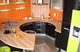 cuisine noir et jaune cuisine modèle spot noir