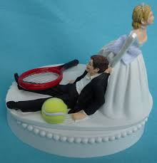 tennis cake toppers wedding cake topper tennis player racquet sports groom