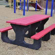 Recycled Plastic Benches For Schools Commercial Picnic Tables For Schools U0026 Parks Outdoor Picnic Tables