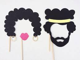 printable hippie photo booth props 1970 s photo booth props afros photobooth props 70s party photo