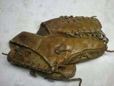 Hutch Baseball Gloves Vintage Antique Hutch Baseball Glove Leather And Cloth With Lacing