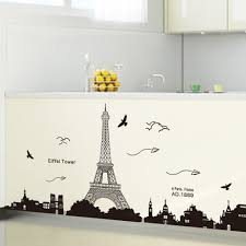 home decor online sales paris eiffel tower night view beautiful romantic simple black