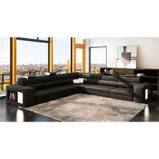 living room nicoletti tesla italian leather sectional sofa with