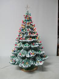 ceramic christmas tree with lights cracker barrel fancy ceramic christmas tree base bisque amazon atlantic light kit